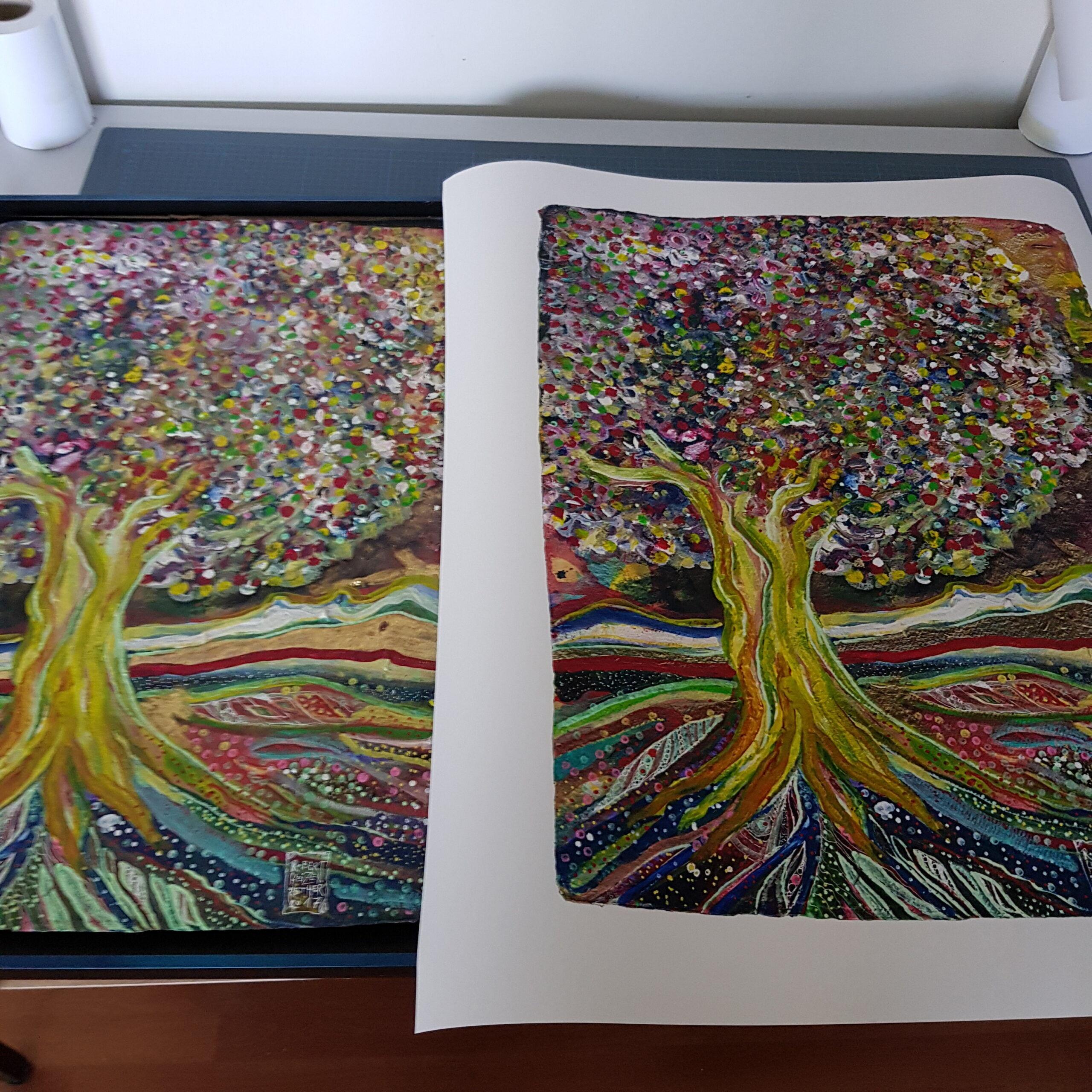 Links Original - rechts Print